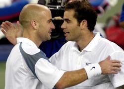 Andre Agassi y Pete Sampras, después de su partido de cuartos de final | Cordon Press