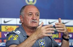 Luiz Felipe Scolari, en rueda de prensa con Brasil. | Archivo