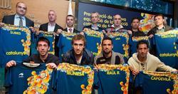 Presentación de la camiseta de la selección catalana. | Foto: FCF
