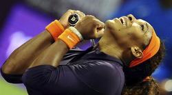 Serena Williams, durante el torneo de Doha.   EFE