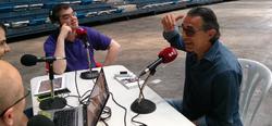 El equipo de Tirando a Fallar, con Sergio Scariolo en Málaga.