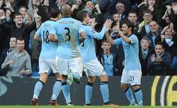 Silva celebra su gol contra el Aston Villa. | EFE