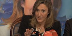 Sonia Gumpert en una rueda de prensa durante el proceso electoral | Archivo