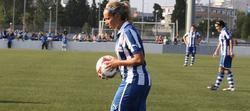 Sonia Matias, durante un encuentro con su equipo, el Espanyol.