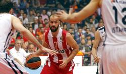 Vassilis Spanoulis, durante el quinto partido ante el Anadolu Efes. | EFE