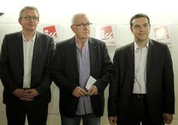 Pierre Laurent, Cayo Lara y Alesis Tzipras