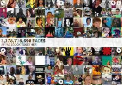Algunas de las caras de Facebook. | app.thefacesoffacebook.com