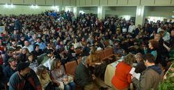 Una asamblea en el rectorado de la UPM | C.Jordá