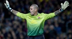Valdés celebra una parada decisiva. | EFE