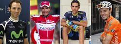 Valverde, Purito, Contador y Samuel Sánchez. | LD