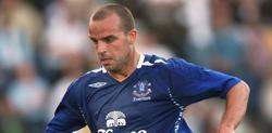 Andy van der Meyde, durante su etapa en el Everton.   Archivo