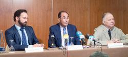 Abascal, Vidal-Quadras y González Quirós en la rueda de prensa | LD
