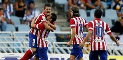 Villa celebra su gol ante la Real Sociedad. | EFE