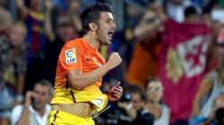 David Villa celebra un gol con el Barcelona. | Archivo