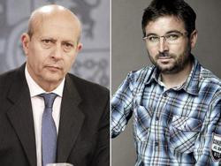 José Ignacio Wert y Jordi Évole.