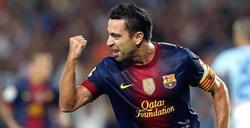 Xavi celebra un gol contra el Granada.   Archivo