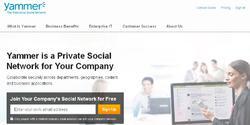 Captura de la web de Yammer | yammer.com