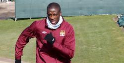 Yaya Touré, durante un entrenamiento con el Manchester City. | Cordon Press