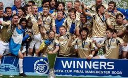 El Zenit celebra su triunfo en la UEFA del 2008. | Archivo