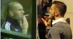 Zidane y Wilshere, con un pitillo en la boca. | LD