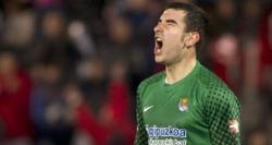 Zubikarai, durante el encuentro de la temporada pasada ante el Mallorca. | EFE