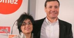 Martu Garrote, junto a Tomás Gómez   La Gaceta