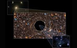 Tamaño de uno de los agujeros negros | Nature