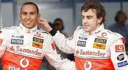 Alonso y Hamilton, durante la temporada en la que compartieron escudería.