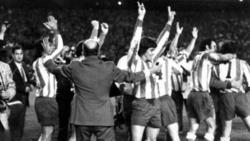 Los jugadores del Atlético celebran la clasificación.   Archivo