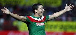 De Marcos celebra el gol de la victoria en Sevilla. | EFE