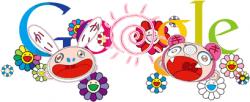 El 'doodle' de Murakami. | Google