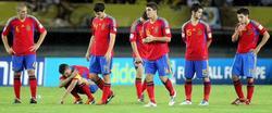 Los jugadores de la selección, cabizbajos tras la eliminación. | EFE