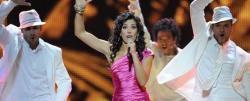 Lucía Pérez cantando Que me quiten lo bailao en Eurovisión | EFE