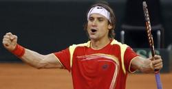 Ferrer celebra la victoria ante Del Potro. | EFE