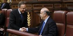 Florentino Pérez y Del Bosque coinciden en un acto judicial. | EFE