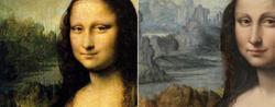 La Gioconda de Leonardo (izquierda) y la hallada en el Prado (derecha)
