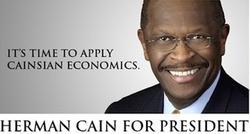 El candidato republicano a la Presidencia de EEUU, Herman Cain.