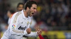 Gonzalo Higuaín celebra el tanto logrado en Mallorca. | EFE