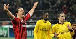 Zlatan Ibrahimovic celebra su tanto. | EFE