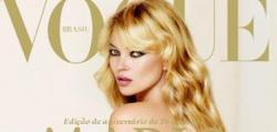 Kate Moss, desnuda en Vogue Brasil