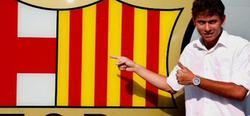 Keirrison, en su presentación con el Barcelona. | Archivo