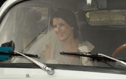 La novia, Mónica Abascal, llegó en un 600. | Europa Press