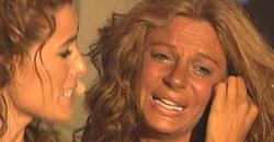 Sonia Monroy, desolada tras conocer que no ganaría.   Telecinco