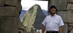 Evo Morales, de vacaciones en Machu Picchu. | EFE