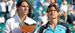 Nadal y Ferrer posan en la entrega de trofeos | EFE