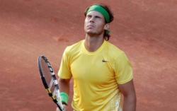 Nadal se lamenta en la final ante Djokovic. | EFE