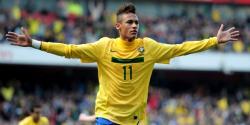 Neymar, delantero brasileño del Santos.   Archivo