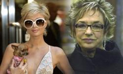 Paris Hilton y la cofundadora de Inditex, Rosalía Mera