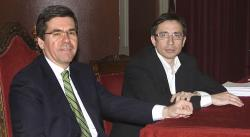 Jaime Piniés y Ramón Marcos, en un momento de la entrevista   C.Jordá