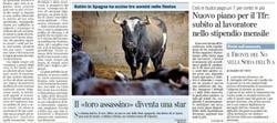 La portada del Corriere della Sera.
